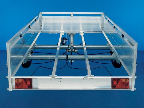 Unterzug 3,5 m Alu 80x40x2mm für Gebremst